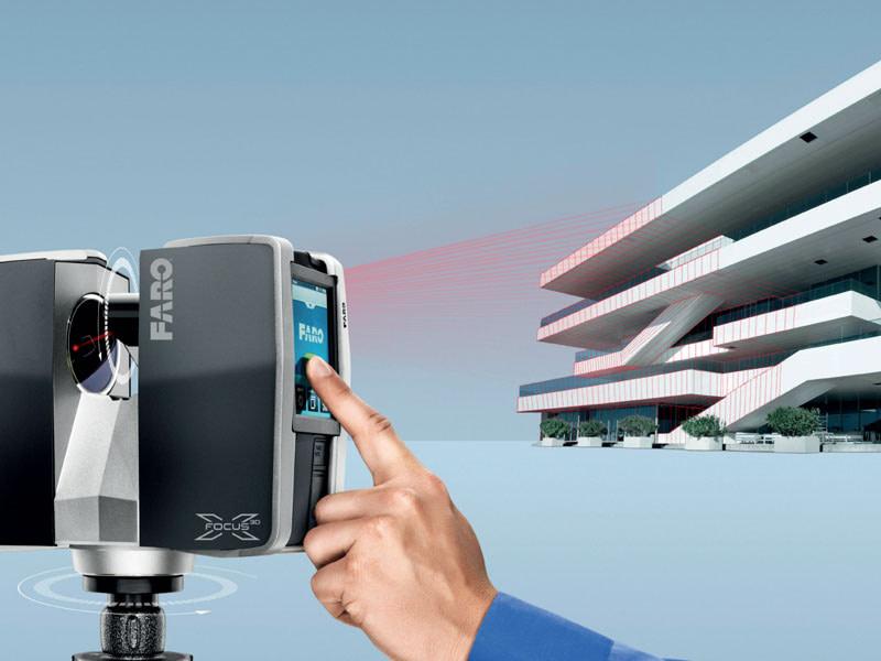 Faro scanner 3d architettura