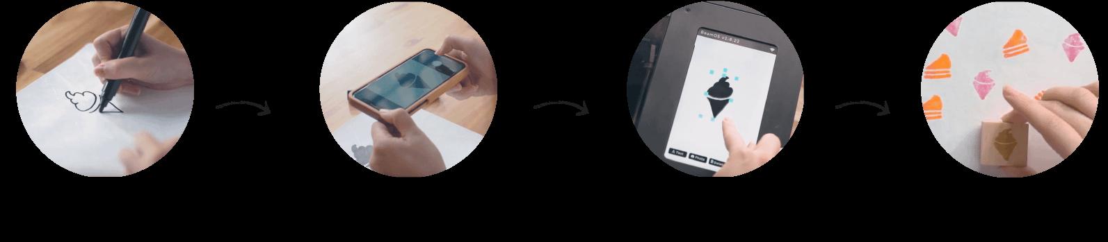 processo creativo laser cutter